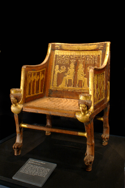 chair of princess sitamun found in the tomb of yuya and thuya and now in cairo museum
